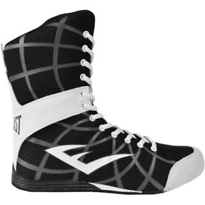 Everlast Grid High Top Boxing Shoes – Black – boots mma training hi