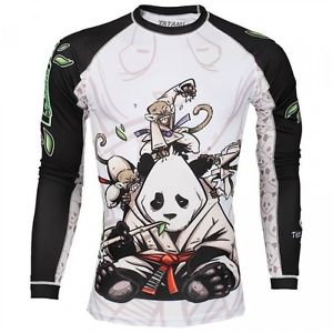 Tatami Fightwear Gentle Panda Rash Guard Adults BJJ Training T shirt MMA Tops