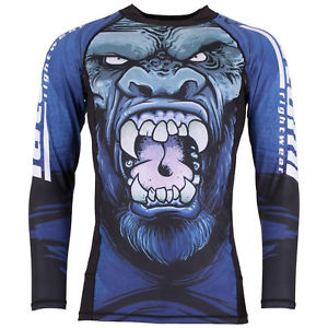 Tatami Fightwear Men's Gorilla Smash Rash Guard MMA BJJ Black