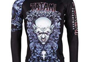 Tatami Fightwear Men's Nosferatu Rash Guard MMA BJJ Black
