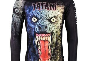 Tatami Fightwear Men's Werewolf Rash Guard MMA BJJ Black