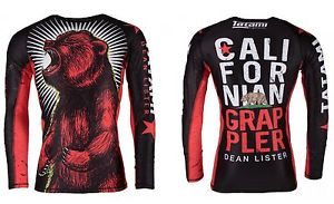 Tatami Fightwear Men's Dean Lister Californian Grappler Bear MMA BJJ Rash Guard