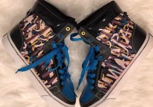 New Quicksilver Mens Size 9.5 Warpaint Black Teal Blue High Top XXX Sneakers