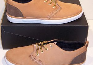 Quiksilver Men's RF1 Low Premium Sz 12 M Tan Nubuck Skate Sneakers Shoes $90