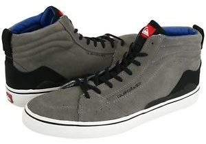 NEW QUIKSILVER CARDONE HIGH TOP GRAY SHOES MENS 13 GRAY LEATHER HIGH TOP SNEAKER