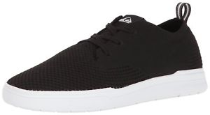 Quiksilver Men's Shorebreak Stretch Knit Sneaker Skate Shoe, Black/Black/White,