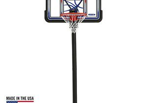 44″ Shatterproof In Ground Adjustable System Basketball Hoops Outdoor Game Play