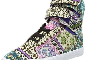 SUPRA Women Society Fabric Multicolor Pattern Trainers Skate Sneaker …