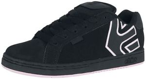 Etnies Fader Black Pink Womens Leather Skate Trainers…