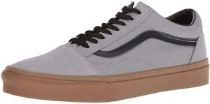 Vans Old Skool Grey Gum Mens Suede Skate Trainers…