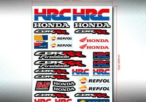 Honda Racing HRC MX Sticker Vinyl Decal Sheet Helmet Car Bike Tablet …