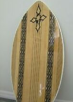 RARE LOCAL MOTION Bamboo Hawaiian SKIMBOARD Surf Skimmer Bodyboard Br…